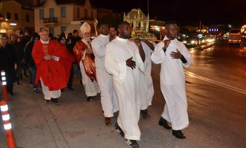 Ημέρα του Αγίου Βαλεντίνου: Η Μυτιλήνη τίμησε τον Άγιο Βαλεντίνο της καθολικής εκκλησίας