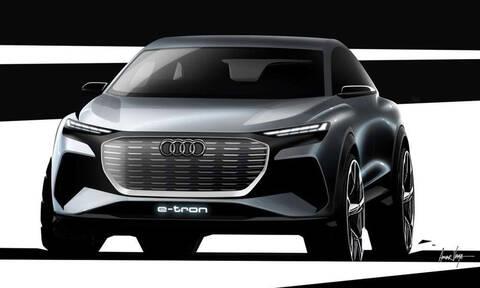 Audi Q4 e-tron concept: τα επίσημα σκίτσα του δεύτερου ηλεκτρικού Audi των 45.000 ευρώ
