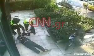 Αποκλειστικό CNN Greece: Καρέ - καρέ η ληστεία της χρηματαποστολής σε τράπεζα στο Ψυχικό