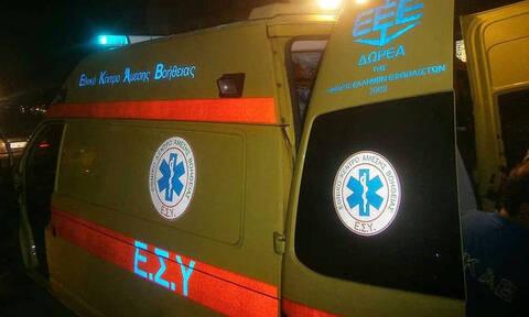 Καλαμπάκα: Άγιο είχε 21χρονος που «εκτινάχτηκε» από φλεγόμενο όχημα (pic)