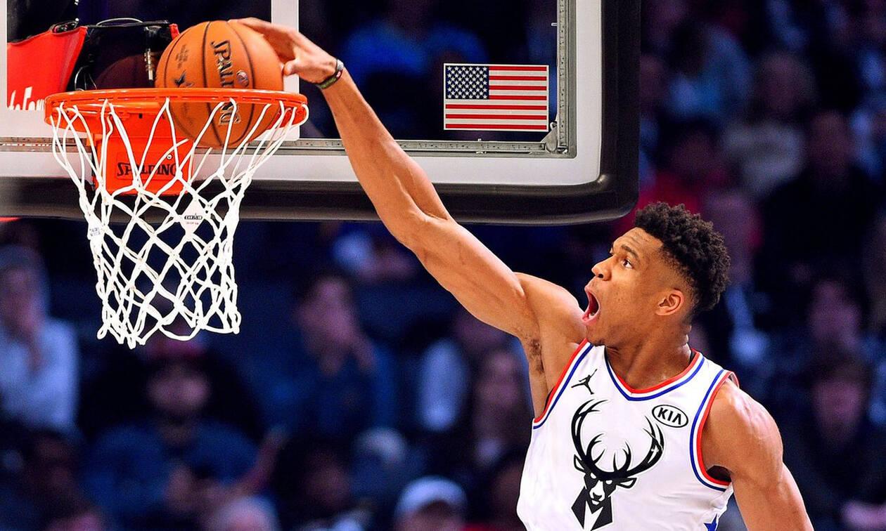 NBA All Star - Πάει για MVP ο Αντετοκούνμπο: Team LeBron-Team Giannis 82-95 (Ημίχρονο)