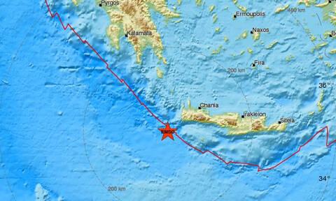 Σεισμός ΤΩΡΑ νοτιοδυτικά των Χανίων (pics)