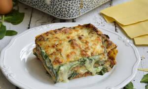 H συνταγή της ημέρας: Λαζάνια με κιμά και σπανάκι