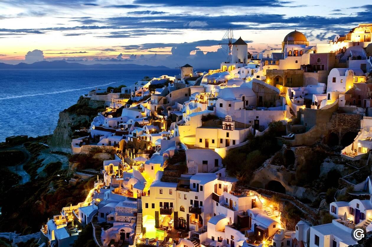 Греческий остров Санторини признан самым красивым в мире