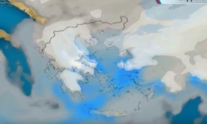 Καιρός: Επιμένει για χιόνια μέχρι τη θάλασσα το Σαββατοκύριακο ο Σάκης Αρναούτογλου (video+photos)