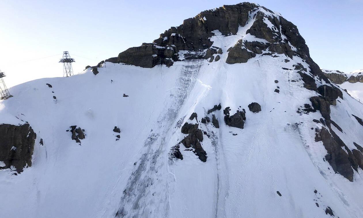 Ελβετία: Χιονοστιβάδα «έθαψε» σκιέρ - Τουλάχιστον 4 τραυματίες (vid)