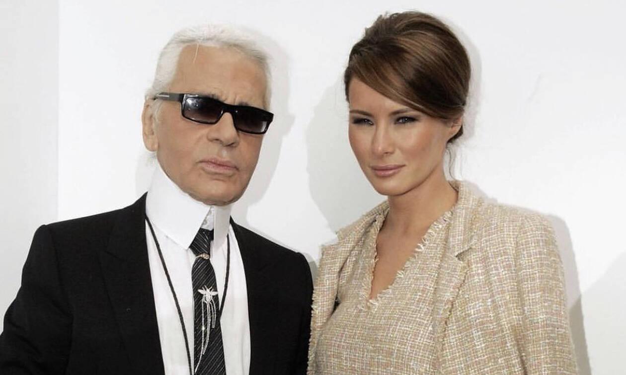 Karl Lagerfeld: Η Μελάνια Τραμπ αποχαιρέτισε τον «ιδιοφυή» Καρλ Λάγκερφελντ