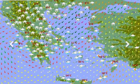 Καιρός: Ερχεται ο χιονιάς και οι χάρτες της ΕΜΥ ντύνουν στα λευκά σχεδόν όλη τη χώρα (Photos)