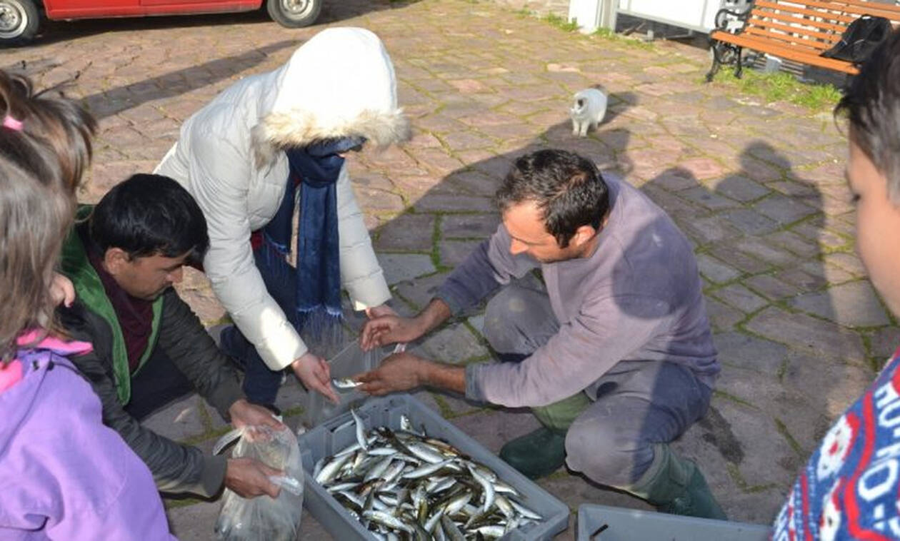 Ο οικονομολόγος που έγινε ψαράς και μοιράζει ψάρια σε πρόσφυγες