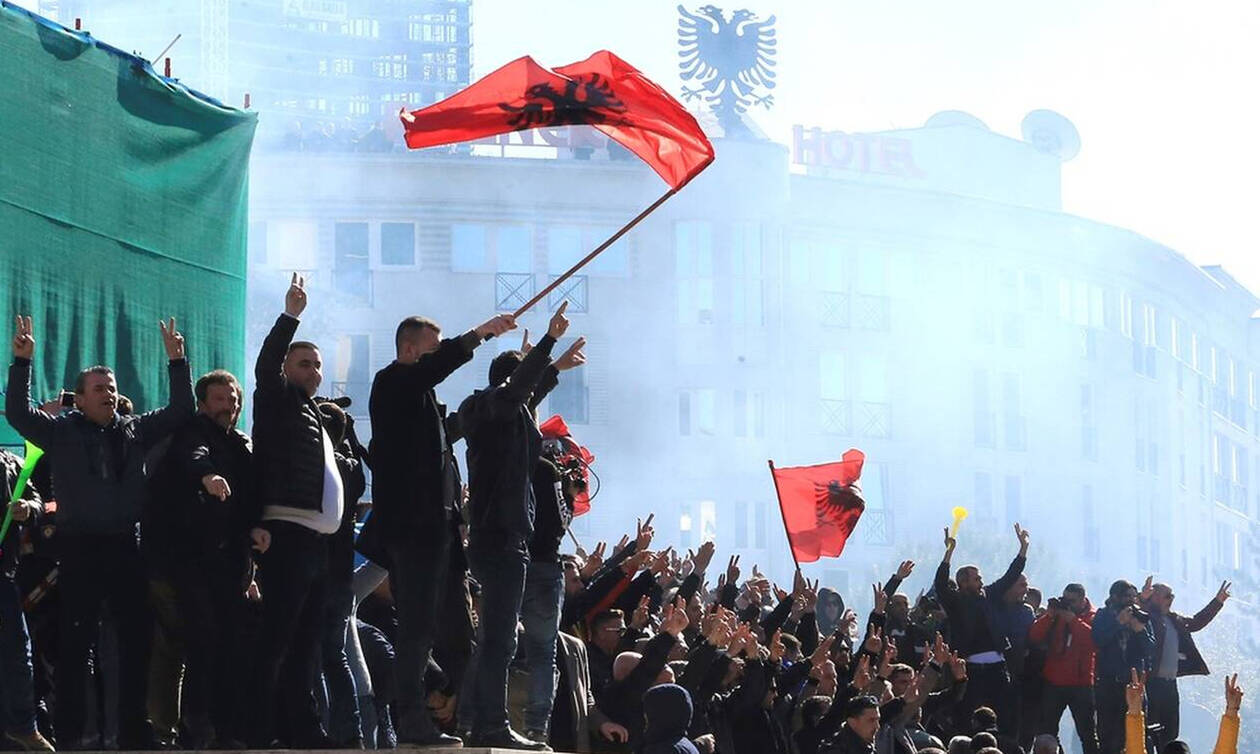 Αποτέλεσμα εικόνας για επεισοδια στην αλβανια