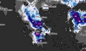 Καιρός: Καρέ - καρέ η χιονοκάλυψη της Ελλάδας το Σαββατοκύριακο (video)