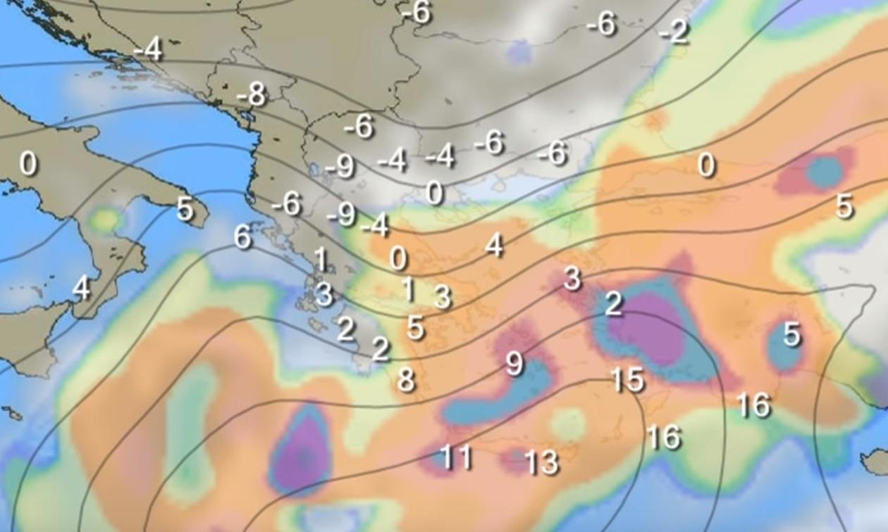 Καιρός: Το βίντεο με την πρόγνωση του Θοδωρή Κολυδά για τον επερχόμενο χιονιά!