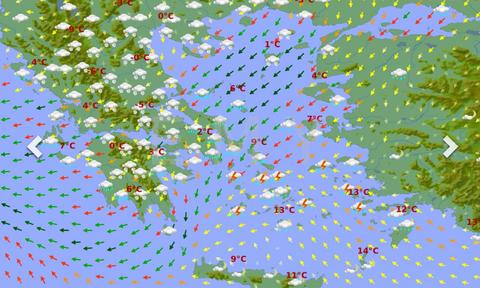 Καιρός: Αντίστροφη μέτρηση για τον χιονιά! Οι ανανεωμένοι χάρτες φαινομένων της ΕΜΥ (photos)