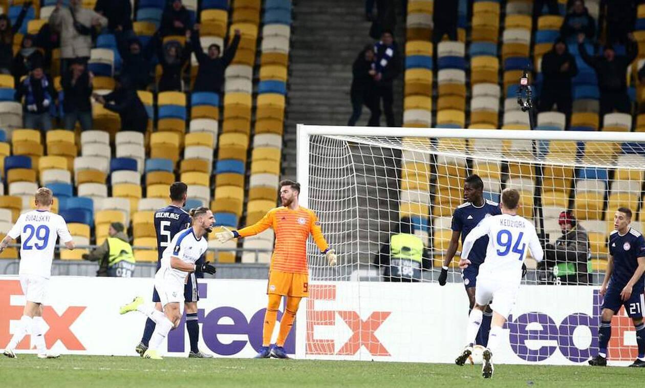Ντιναμό Κιέβου - Ολυμπιακός: «Κοιμήθηκε» η άμυνα, σκόραρε ο Σολ (pics+vid)