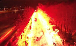 Europa League: Βγήκαν στους -8 και... έκαψαν την πόλη για να περάσει η ομάδα τους! (video+photos)