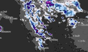 Καιρός: Καρέ - καρέ ο νέος χάρτης χιονοπτώσεων! Εκτός... ψυχρού μετώπου η Αττική (video)