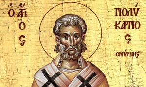 Σήμερα (23/02) η γιορτή του Αγίου Πολυκάρπου