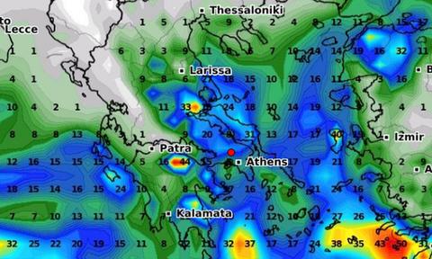 Καιρός: Πόσα χιλιοστά υετού θα πέσουν στην Ελλάδα μέχρι το τέλος της κακοκαιρίας (video)