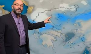Καιρός: Πού θα χιονίσει τη Δευτέρα; Η ανάλυση του Σάκη Αρναούτογλου (video)