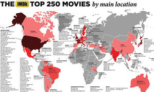 Παγκόσμιος Χάρτης δείχνει πού γυρίστηκαν οι 250 καλύτερες ταινίες του IMDb!
