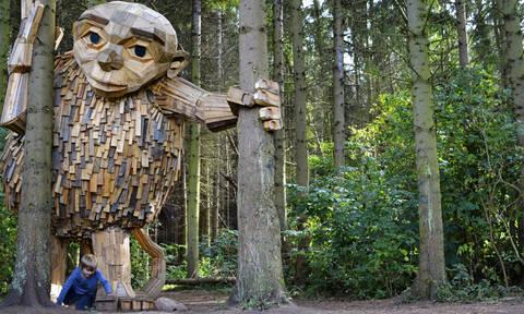 Το μυστήριο των ξύλινων γιγάντων στη «σκοτεινή καρδιά» του δάσους (Pics)