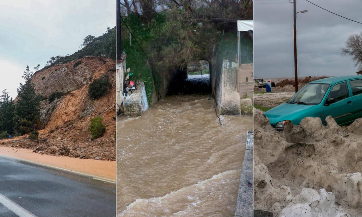 Δραματικές ώρες στην Κρήτη: Αγωνία για τον αγνοούμενο βοσκό – Βιβλική καταστροφή στο νησί