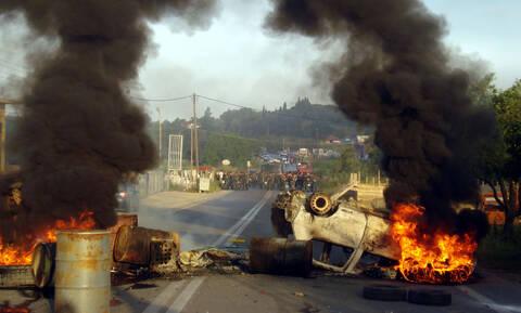 Κέρκυρα: Νέες καταστροφές στον ΧΥΤΑ Λευκίμμης μετά τα χθεσινά επεισόδια (pics)