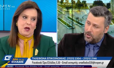 Άγριος καβγάς on air - Μεγαλοοικονόμου: «Είσαι σεξιστής» - Καλλιάνος: «Ξεφτιλίζεσαι καθημερινά»