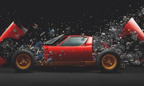 Δείτε μια σπανιότατη Lamborghini Miura SV να διαλύεται σε χιλιάδες κομμάτια