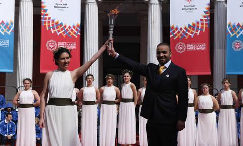 Παγκόσμιοι ΑγώνεςSpecialOlympicsAbu Dhabi2019: Τελετή ΑφήςτηςΦλόγας της Ελπίδας
