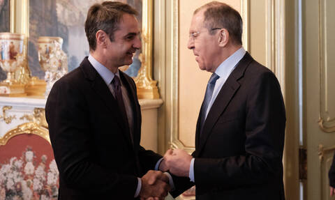 ND leader Mitsotakis meets with Medvedev,Volodin in Moscow