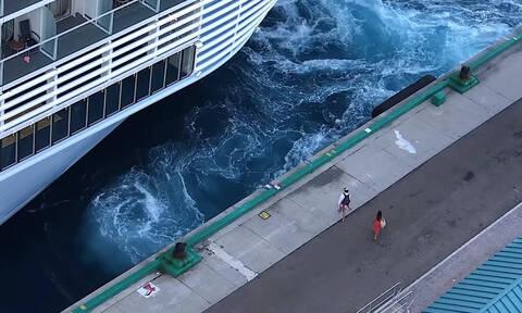 Κρουαζιερόπλοιο εγκατέλειψε δύο ταξιδιώτες στις... Μπαχάμες (vid)
