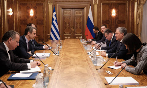 Mitsotakis concludes meetings in Moscow, seeks to develop closer ties