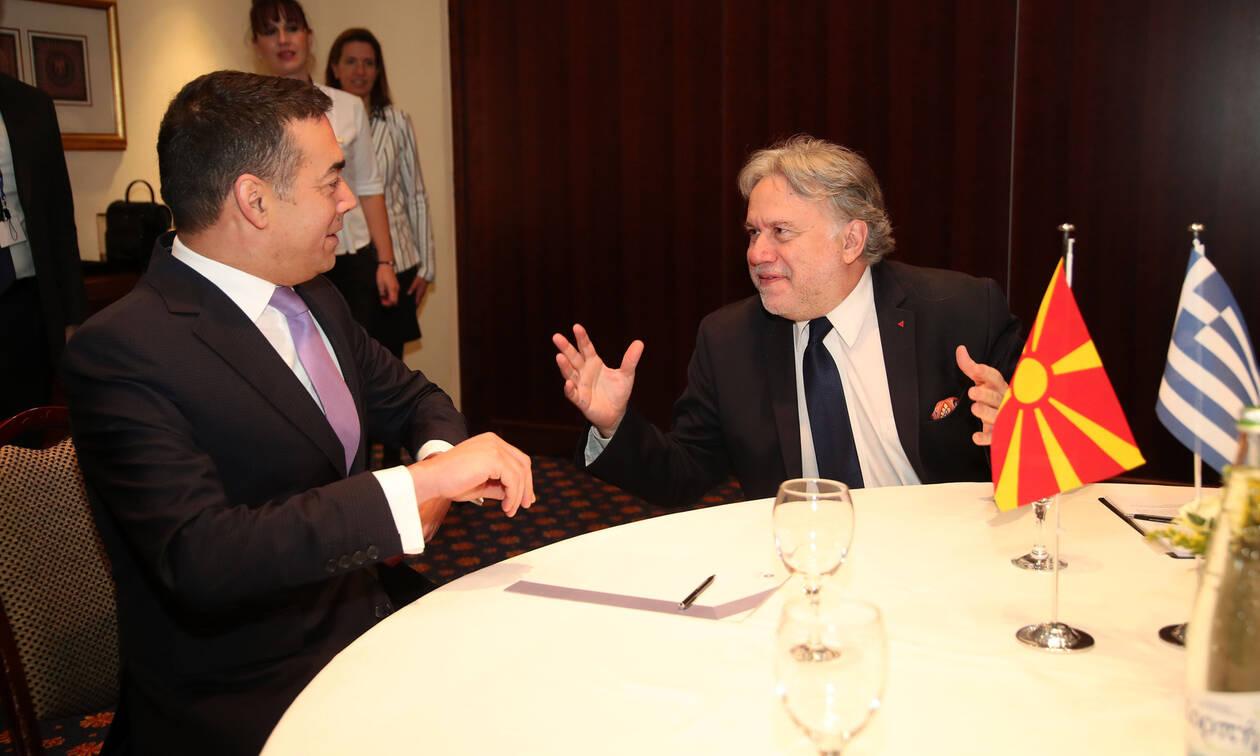 Συμφωνία των Πρεσπών: Συνάντηση Κατρούγκαλου - Ντιμιτρόφ στο Οικονομικό Φόρουμ των Δελφών