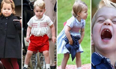Πρίγκιπας George και πριγκίπισσα Charlotte : Δείτε τις πιο χαριτωμένες στιγμές τους (vid)