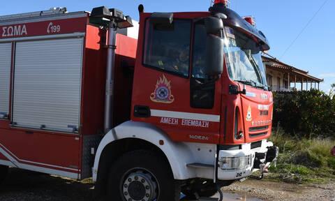 Ηράκλειο: Τροχαίο με εγκλωβισμό στον Γεροπόταμο - Άγιο είχε ο οδηγός