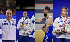 Στίβος: Γεμάτη μετάλλια και διακρίσεις επιστρέφει από τη Γλασκώβη η ελληνική αποστολή (pics)