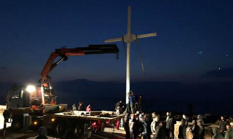 Σάλος στη Μυτιλήνη: Παρεπέμπονται σε δίκη οι συλληφθέντες για την ύψωση του Σταυρού