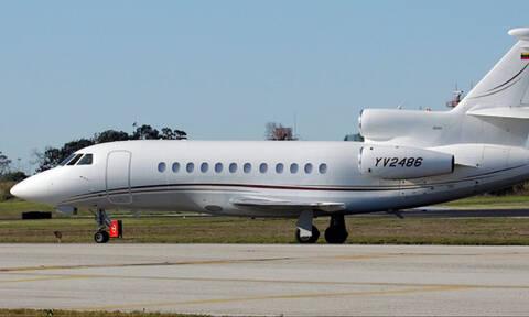 Μυστήριο: Αυτό είναι το αεροσκάφος της Βενεζουέλας που προσγειώθηκε στην Αθήνα