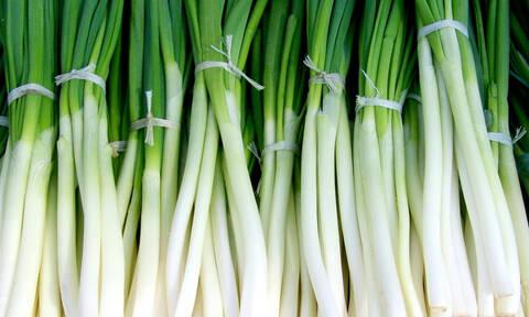 Το κόλπο για να μένουν φρέσκα τα πράσινα χλωρά κρεμμύδια για μήνες