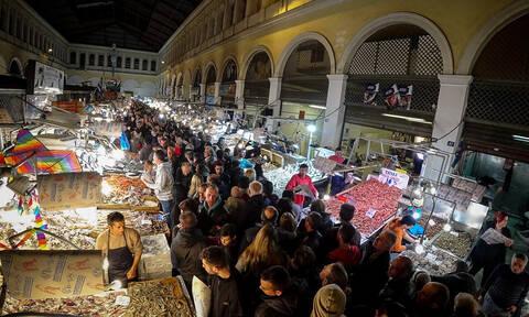 Καθαρά Δευτέρα: Ολονυχτία στη Βαρβάκειο - Πώς θα λειτουργήσουν σήμερα τα καταστήματα