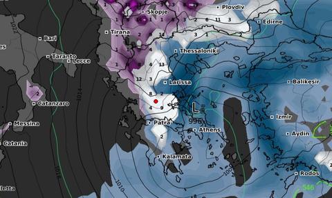 Ραγδαία επιδείνωση του καιρού! Πού θα χιονίσει; Καρέ - καρέ η εξέλιξη της κακοκαιρίας (vid)