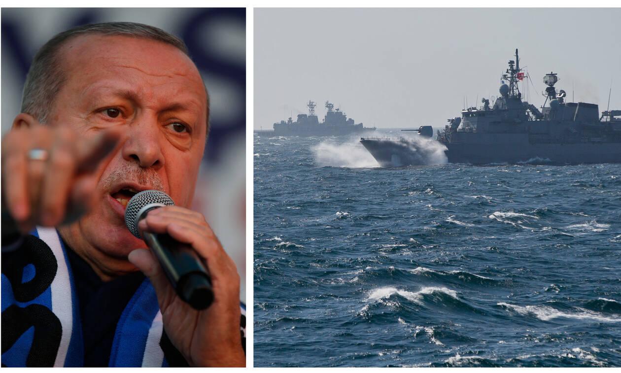 «Μυρίζει» μπαρούτι: Ο Ερντογάν αποκλείει το μισό Αιγαίο για ασκήσεις με παράνομη NAVTEX