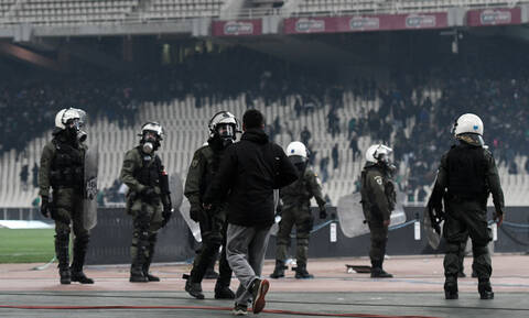 Eight persons arrested for clashes at Athens Olympic Stadium during Sunday's football match