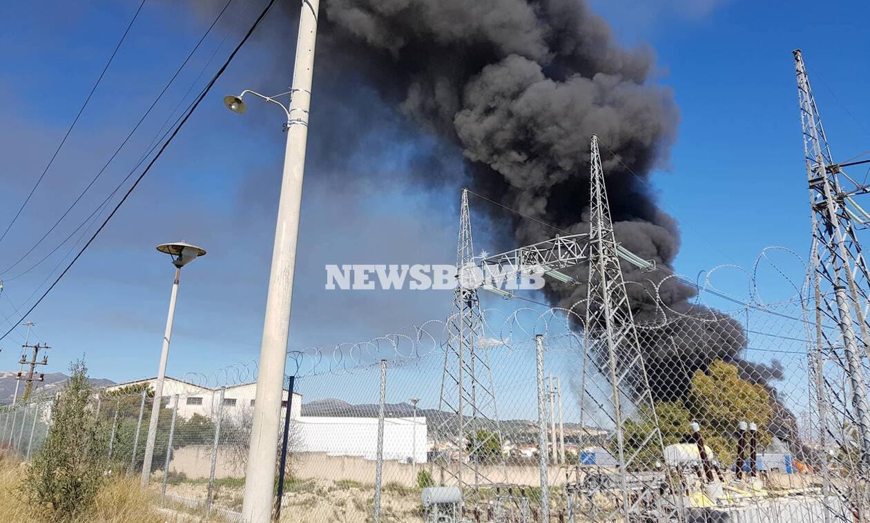 Μεγάλη φωτιά ΤΩΡΑ στην Παιανία: Οι πρώτες εικόνες από το σημείο (pics+vid)