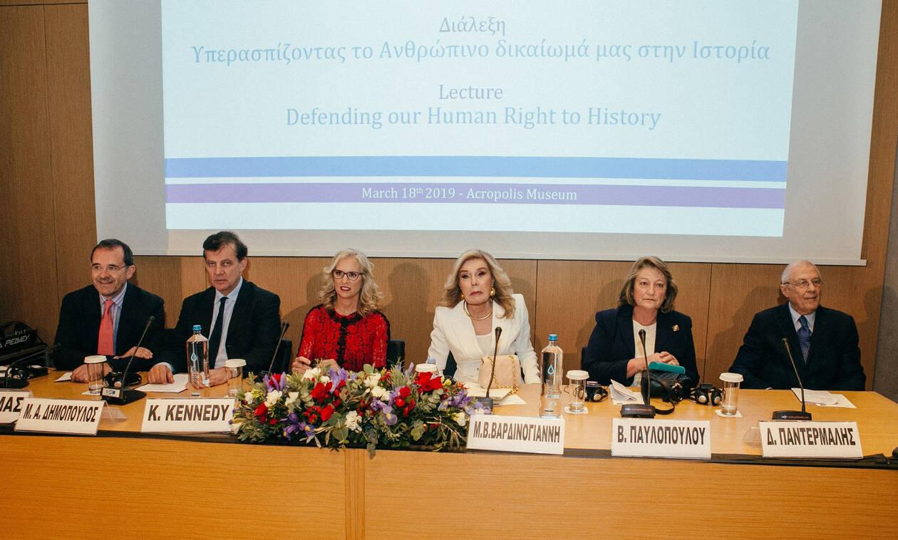 Kerry Kennedy – Μαριάννα Βαρδινογιάννη: Τα Γλυπτά του Παρθενώνα ανήκουν στην Ελλάδα