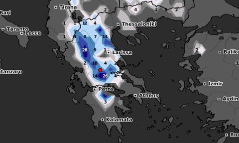 Καιρός: Δείτε καρέ - καρέ την χιονοκάλυψη της Ελλάδας την ερχόμενη εβδομάδα (video)