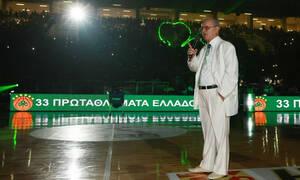 Παναθηναϊκός ΟΠΑΠ-Μπασκόνια: Συγκινητικό πανό για τον Θανάση Γιαννακόπουλο (video+photos)