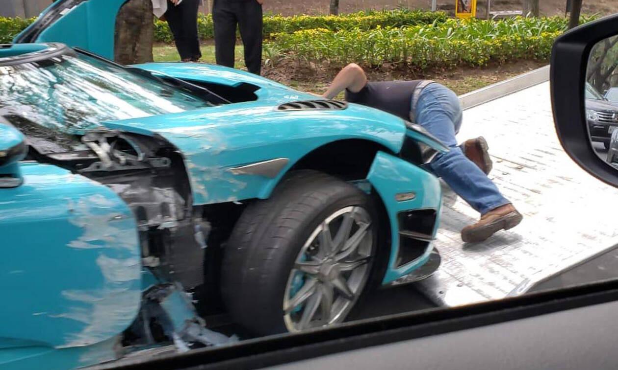 Για τα παλιοσίδερα κατάντησε μια σπάνια Koenigsegg CCXR