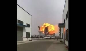 Κίνα: Ισχυρή έκρηξη σε χημικό εργοστάσιο - Αρκετοί τραυματίες (vid)